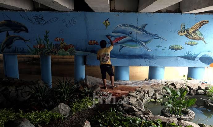 Pemprov DKI Percantik Kolong Jembatan untuk Taman Interaksi Warga