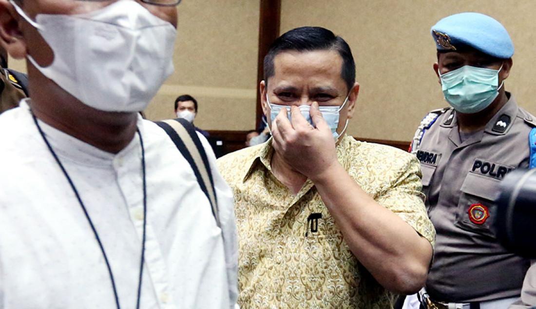 Irjen Napoleon Bonaparte yang menjadi terdakwa kasus suap penghapusan red notice Djoko Tjandra di Pengadilan Tipikor Jakarta, Rabu (10/3). Foto: Ricardo - JPNN.com