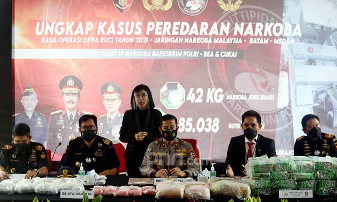 Lihat Nih, Hasil Operasi Bareskrim Sikat Jaringan Narkoba Malaysia-Batam-Medan