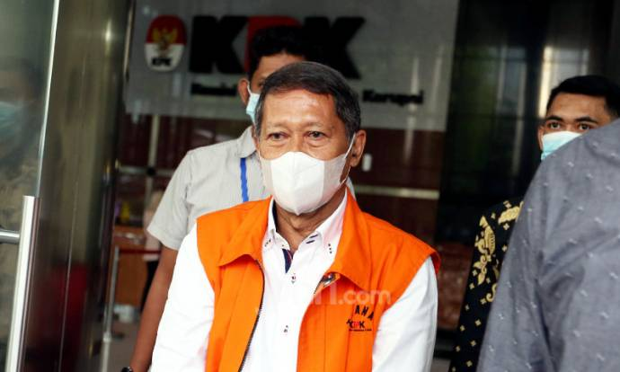 RJ Lino Berbaju Tahanan KPK
