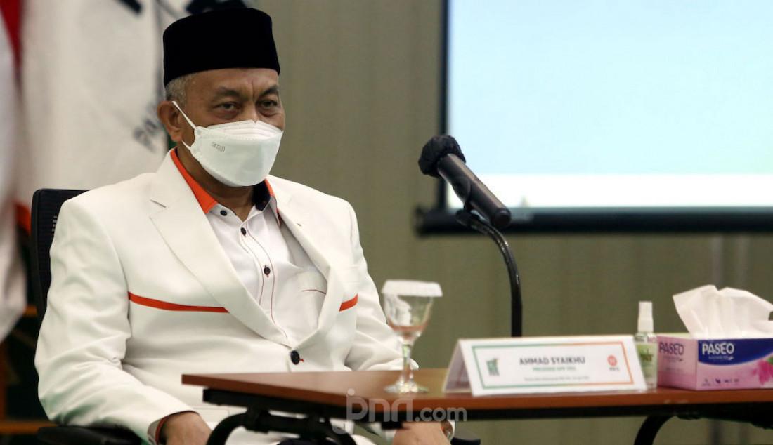 Presiden PKS Ahmad Syaikhu menghadiri pertemuan bertitel Silaturahmi Kebangsaan di DPP PKB, Jakarta Pusat, Rabu (28/4). Foto: Ricardo - JPNN.com