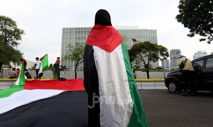 Sambangi Kedubes AS, Aliansi Mahasiswa Islam Jakarta Gelar Aksi Dukung Palestina - JPNN.com