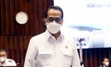 Menhub Budi Karya Sumadi Saat Rapat dengan Komisi V DPR RI - JPNN.com